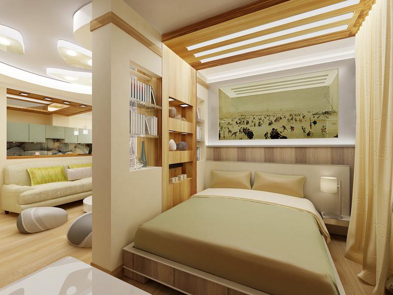 Дизайн проекты спален-гостиных