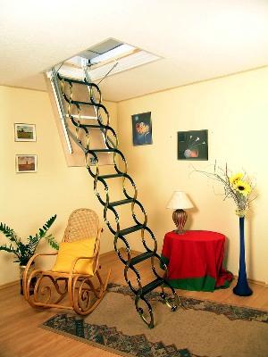 Ножничные чердачные лестницы