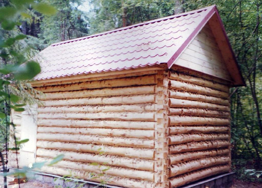Крыша на бане своими руками фото