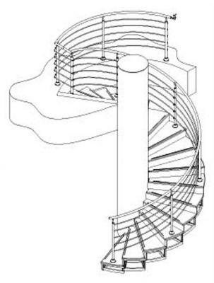 Первой в винтовой лестнице монтируется стойка которая является несущей основой всей конструкции.
