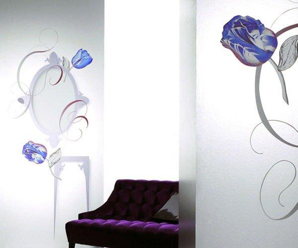 Дизайн обоев, цветы
