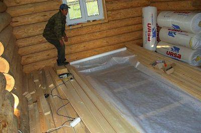 Как утеплить пол в деревянном доме.  Утепление пола деревянного дома.