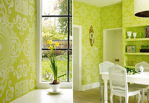 Зеленый цвет в декоре спальни