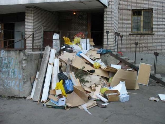 строительный мусор после ремонта