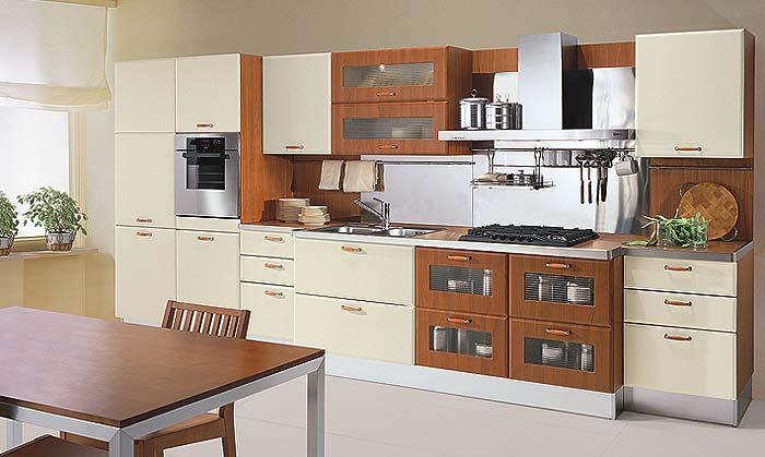 купольного типа.  Если пространство кухни ограничено, то наиболее удобно расположение кухни в одну линейку...