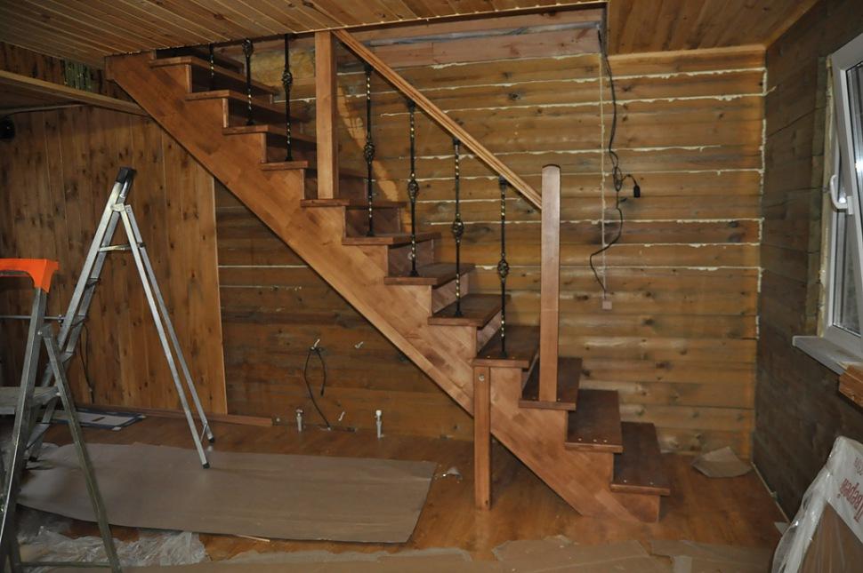 Как сделать лестница на даче