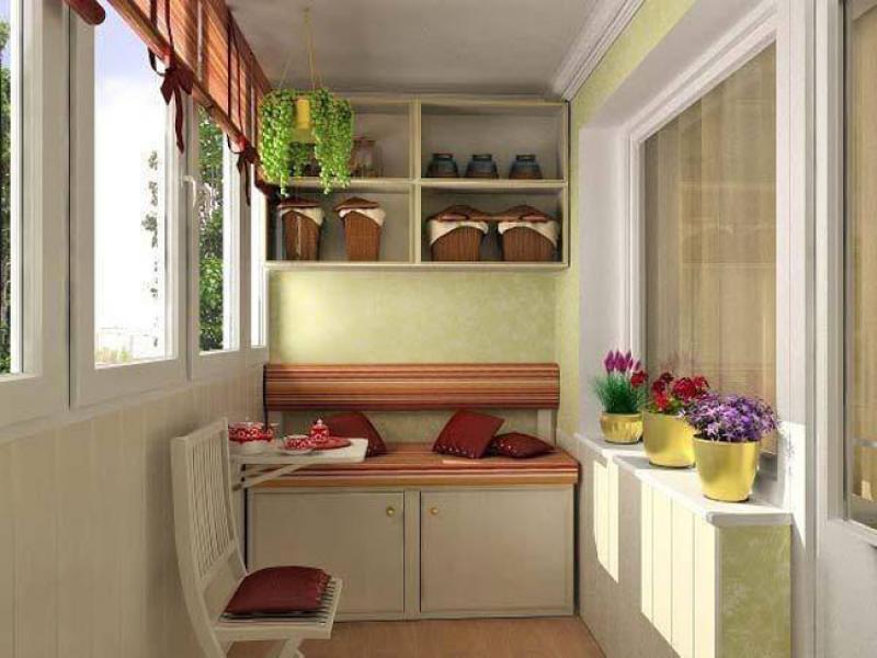 Дизайн мебели на балконе