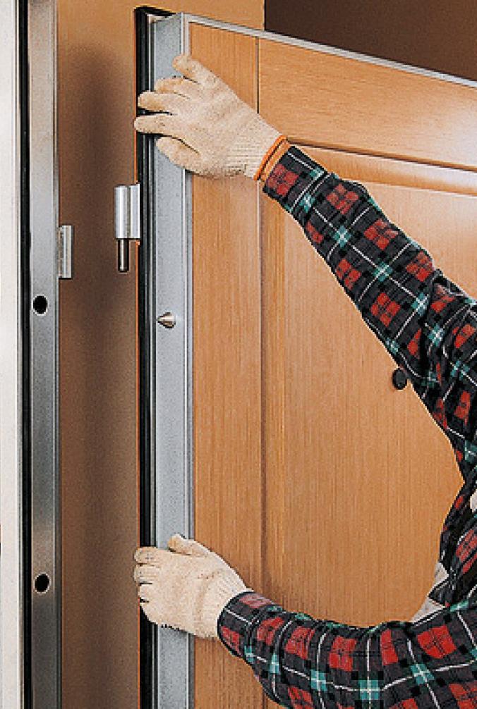 Как собрать железную дверь