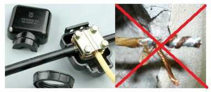 Соединение алюминия и меди в электропроводке
