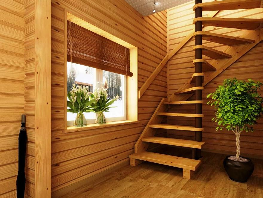 Второй этаж из дерева в частном доме своими руками