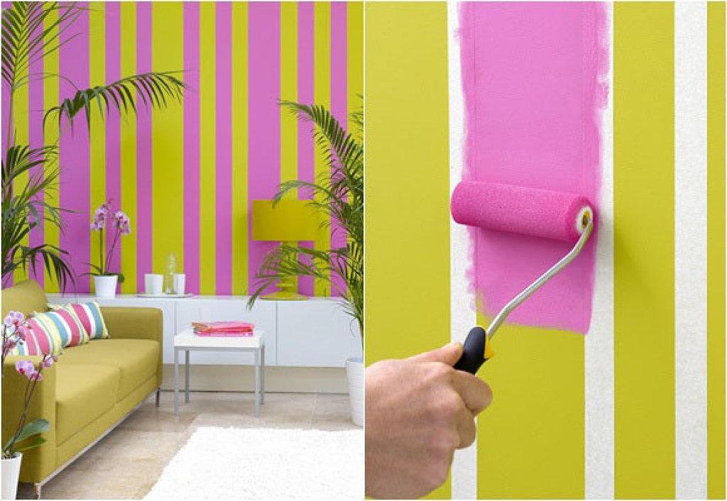 как пакрасить стены в квартире среднем пальце ромб