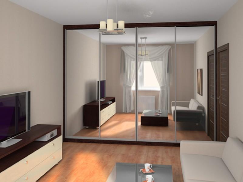 Дизайн шкафа с зеркалом