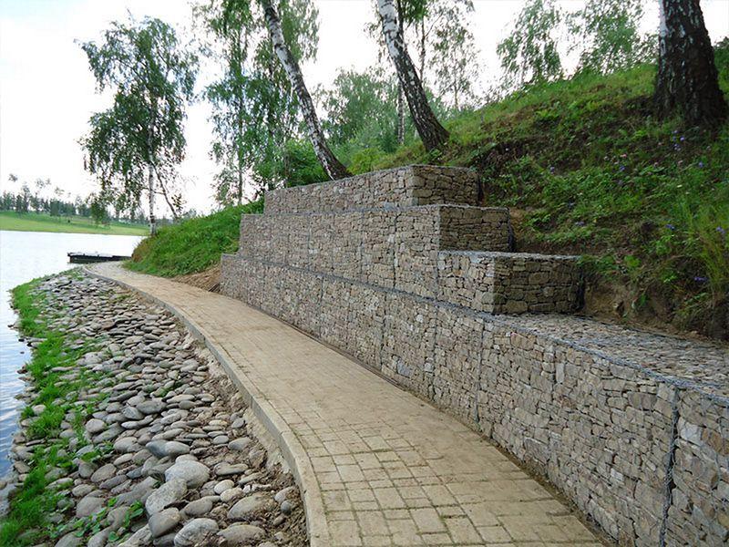 Габионы для подпорных стен