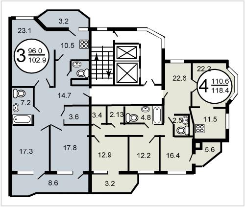 Планировка дома гмс-3.