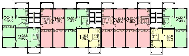 Планировка хрущевка серия ii-32.
