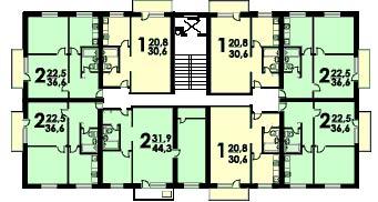 Этажность в серии II-18/12 составляет 12 этажей, в II-18/9 — 9 этажей, высота потолков — стандартная для того периода — 2