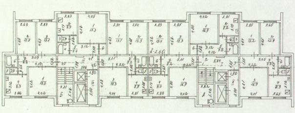 Планировка дома и-1168.
