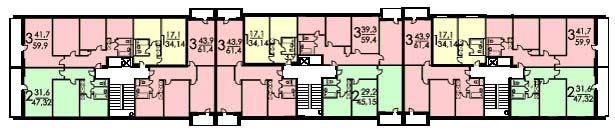 Планировка брежневка панельной серии 1605/9.
