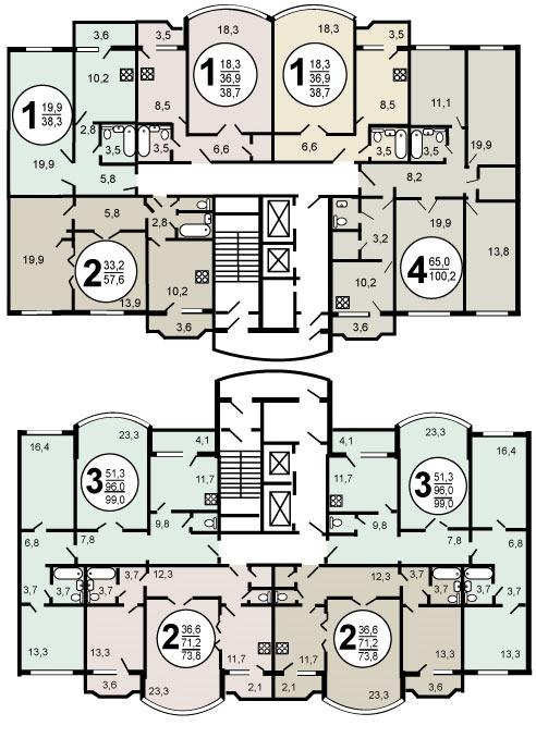 Планировка дома и-155.