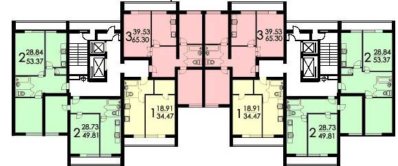 Брежневки: панельные многосекционные дома серии и-522а.