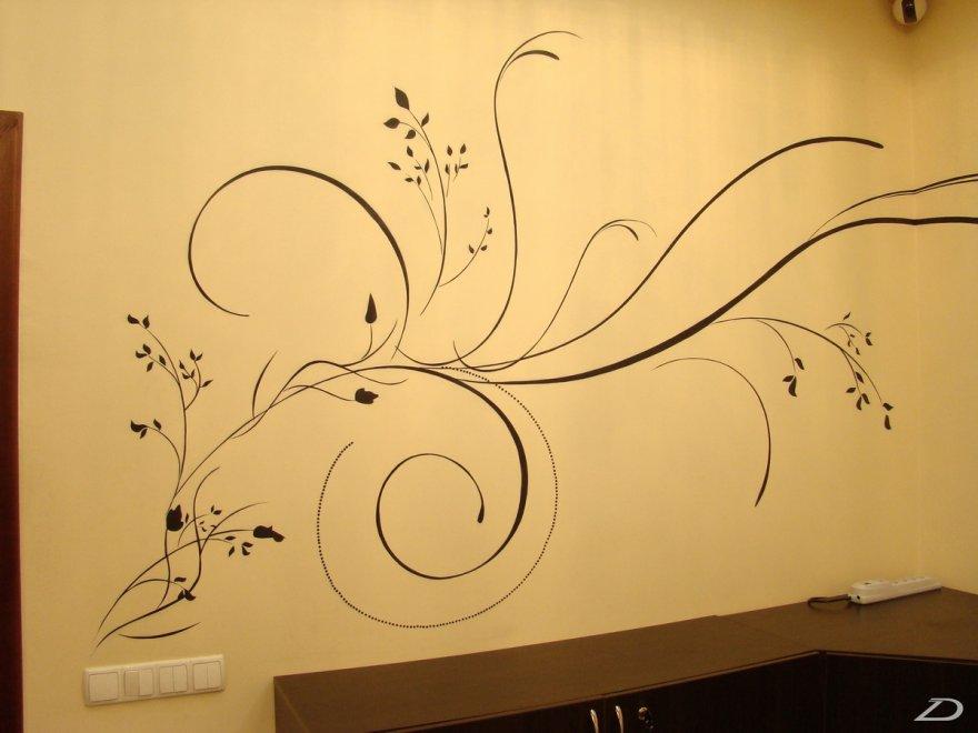 Простые узоры на стену своими руками