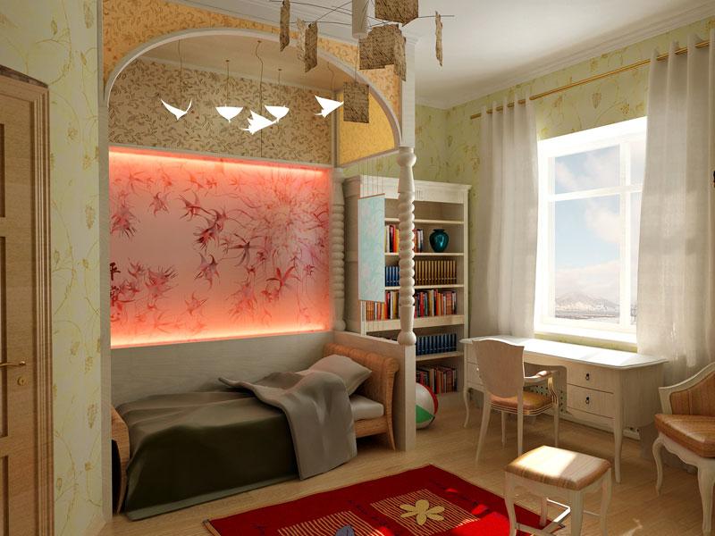 Дизайн комнаты в квартире 20 кв.м