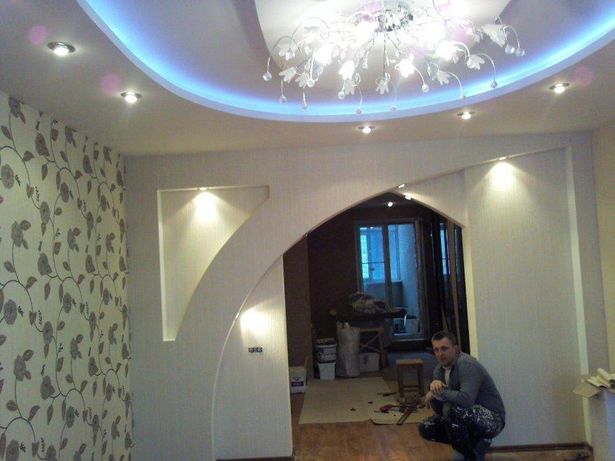 Потолок из гипсокартона в квартире своими руками