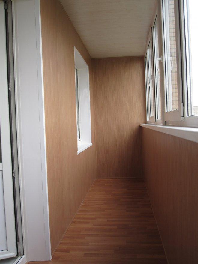 Ламинированные панели для балкона..