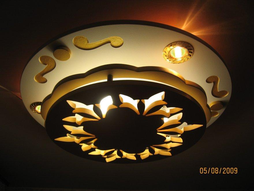 Установка точечных светильников в гипсокартон своими руками 35