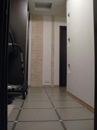 Укладка половой плитки, укладка дикого камня на стене.  (17.01.2011) .