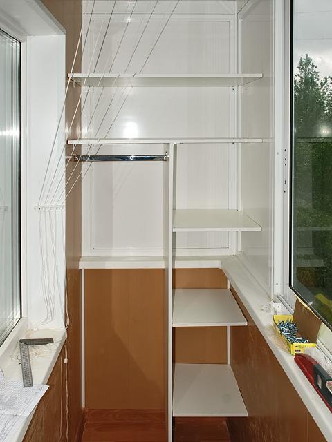 Шкафы на балконе материал полок. - первое оконное бюро - кат.