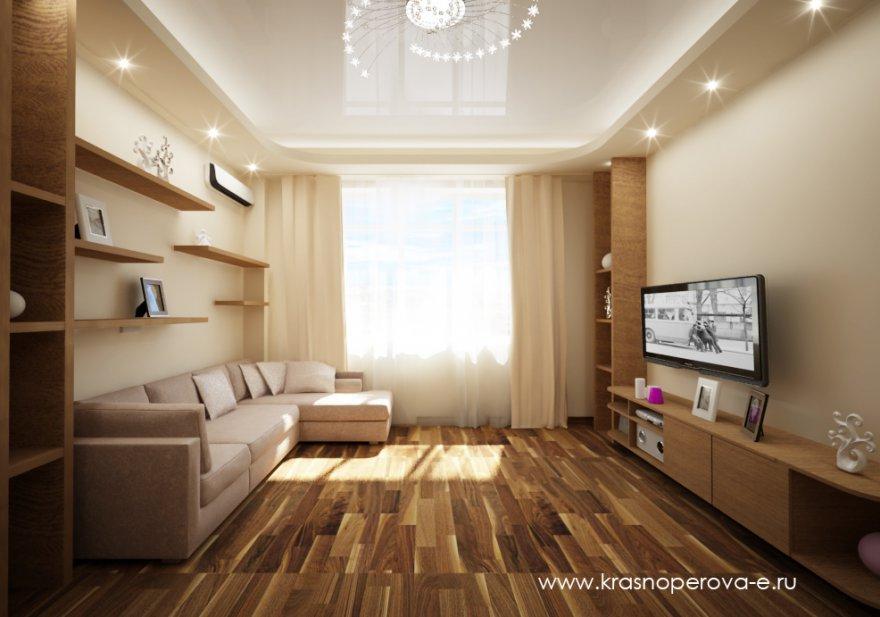 Дизайн гостиной 6 на 3 м